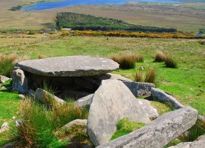 Achill dolmen above healing centre Achill Bioenergy Therapy
