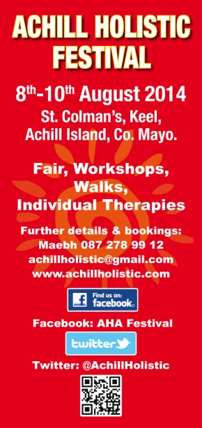 Achill Holistic Festival 7-9 August 2015 – LET YOUR FRIENDS KNOW!