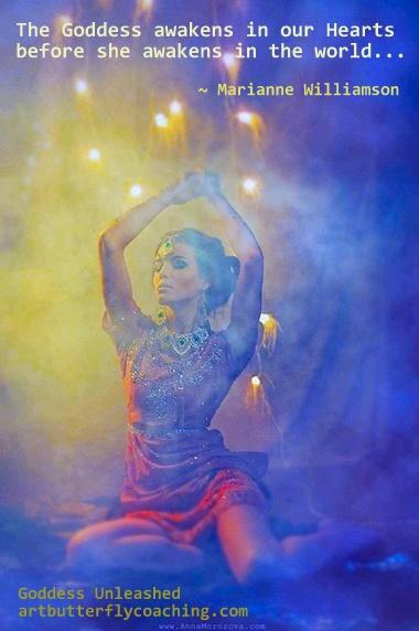 Goddess Unleashed awakens Marianne Williamson