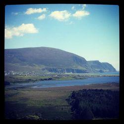 Keel beach from Slievemore Achill Island