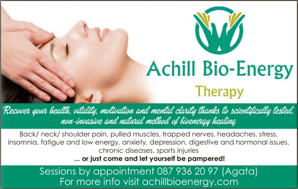 Achill Bioenergy Therapy ad